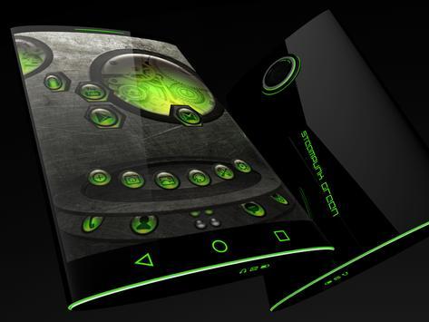 Steampunk Green theme for Next Launcher screenshot 1