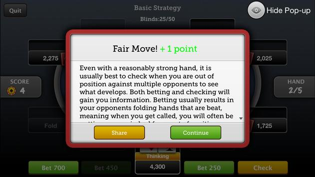 Tournament Poker Coach apk screenshot