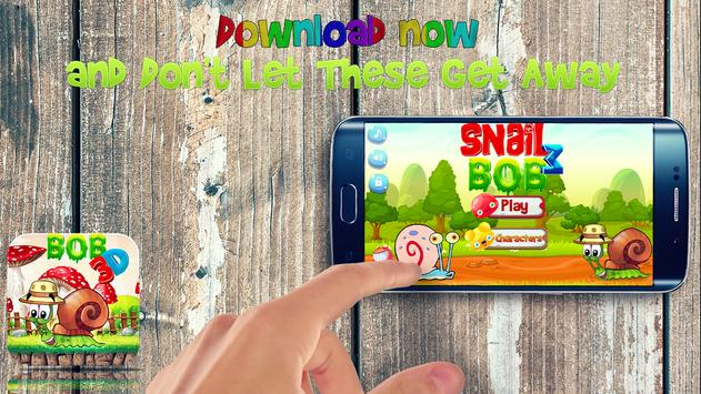 Snail Adventure bob 3D poster