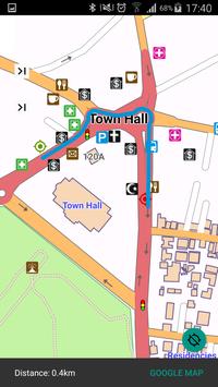 LJUBLJANA SLOVENIA MAP screenshot 1