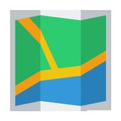 MONTEVIDEO URUGUAY MAP icon