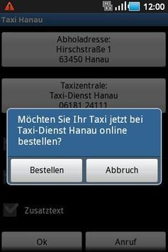 Taxi Hanau apk screenshot