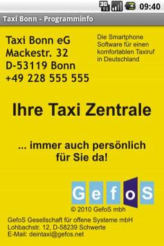 Taxi Bonn screenshot 2