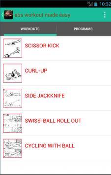 Abs workout made easy apk screenshot