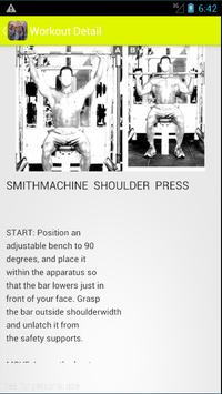 Bodybuilding Workout program apk screenshot