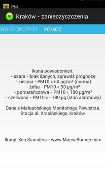 Kraków - zanieczyszczenia apk screenshot