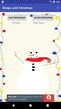 Sleeps until Christmas poster