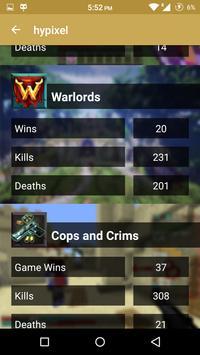 Statistics for Hypixel server apk screenshot