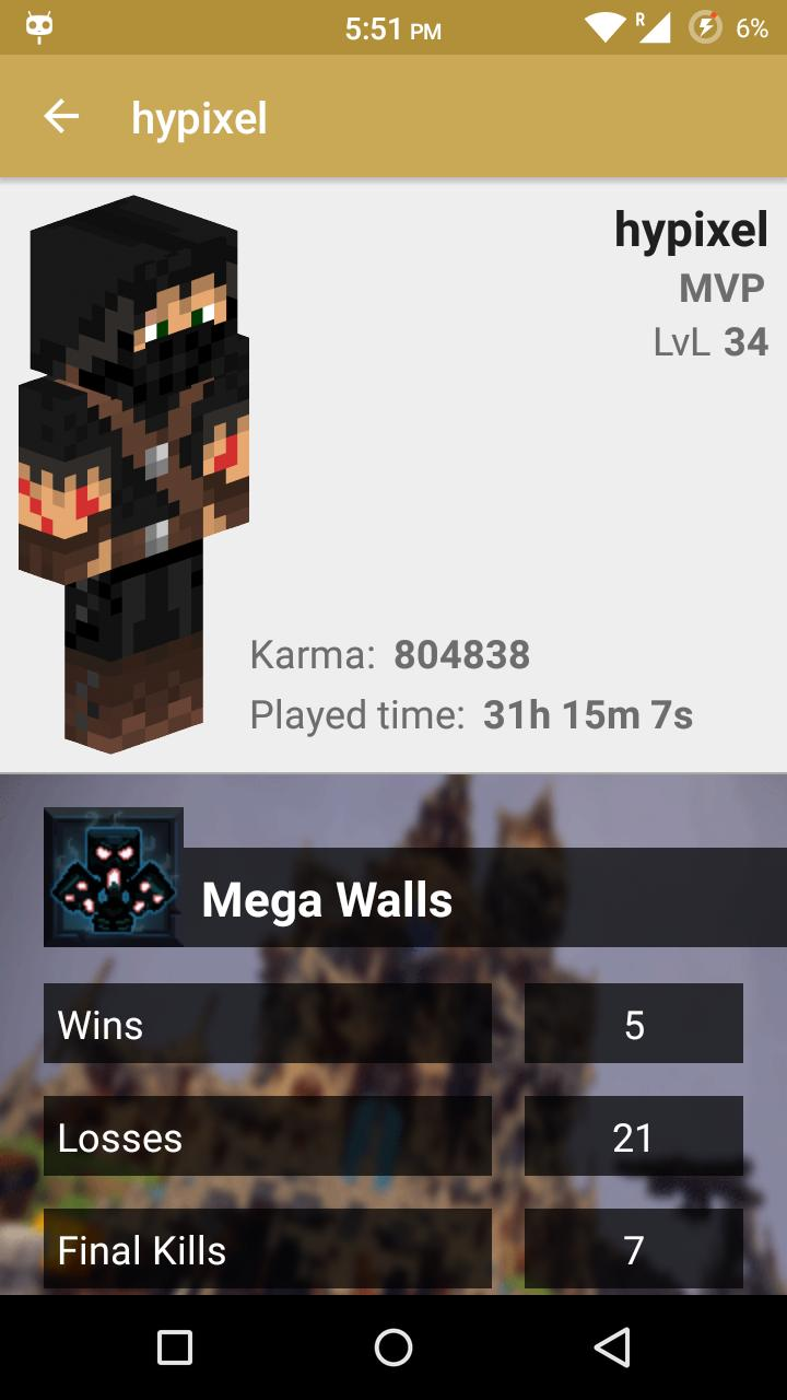 Statistics for Hypixel server for Android - APK Download