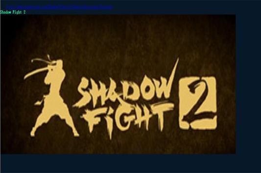 Hack For Shadow Fight 2 Tip poster