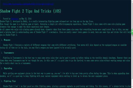 Hack For Shadow Fight 2 Tip apk screenshot