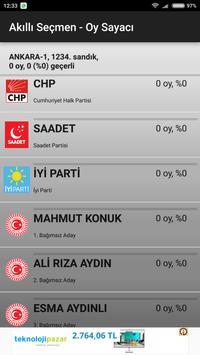 Akilli Secmen - Oy Sayaci screenshot 10
