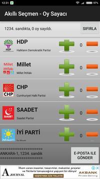 Akilli Secmen - Oy Sayaci screenshot 2