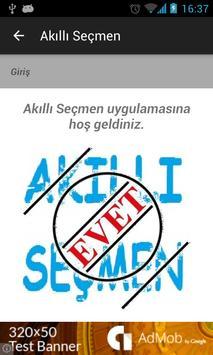 Akilli Secmen - Secim 2015 apk screenshot