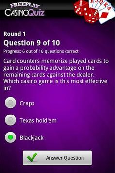 FreePlay Casino Quiz apk screenshot