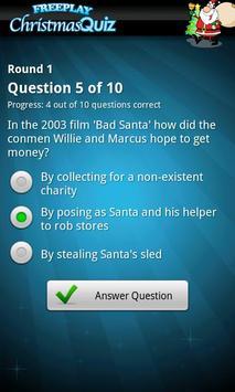 FreePlay Christmas Quiz screenshot 1
