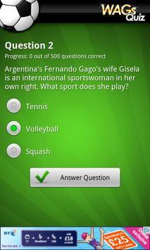 Ultimate WAGs Quiz apk screenshot