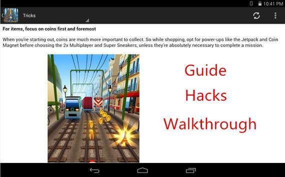 HI Hacks for Subway Surfers apk screenshot
