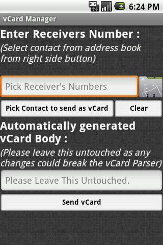 vCard Manager Lite for Android - APK Download