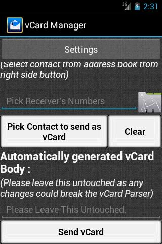 vCard Manager - vCard SMS for Android - APK Download