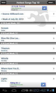 Global Music Billboard -MV&MP3 screenshot 1