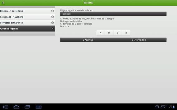 Euskeraz ikasi tablet edition apk screenshot