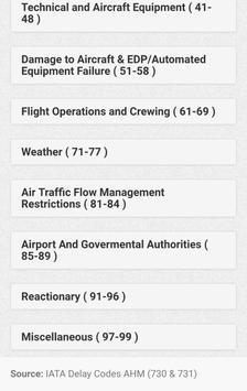 Aviation Delay Codes screenshot 3