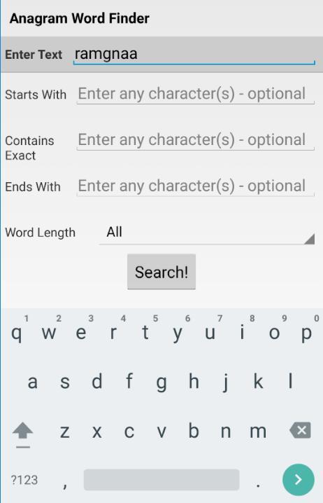 Text word finder