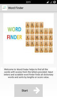 Word Finder Scrabble Solver poster