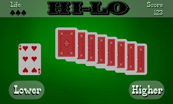 Hi-Lo (High Low) apk screenshot