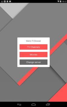 Matrix TV Browser screenshot 1