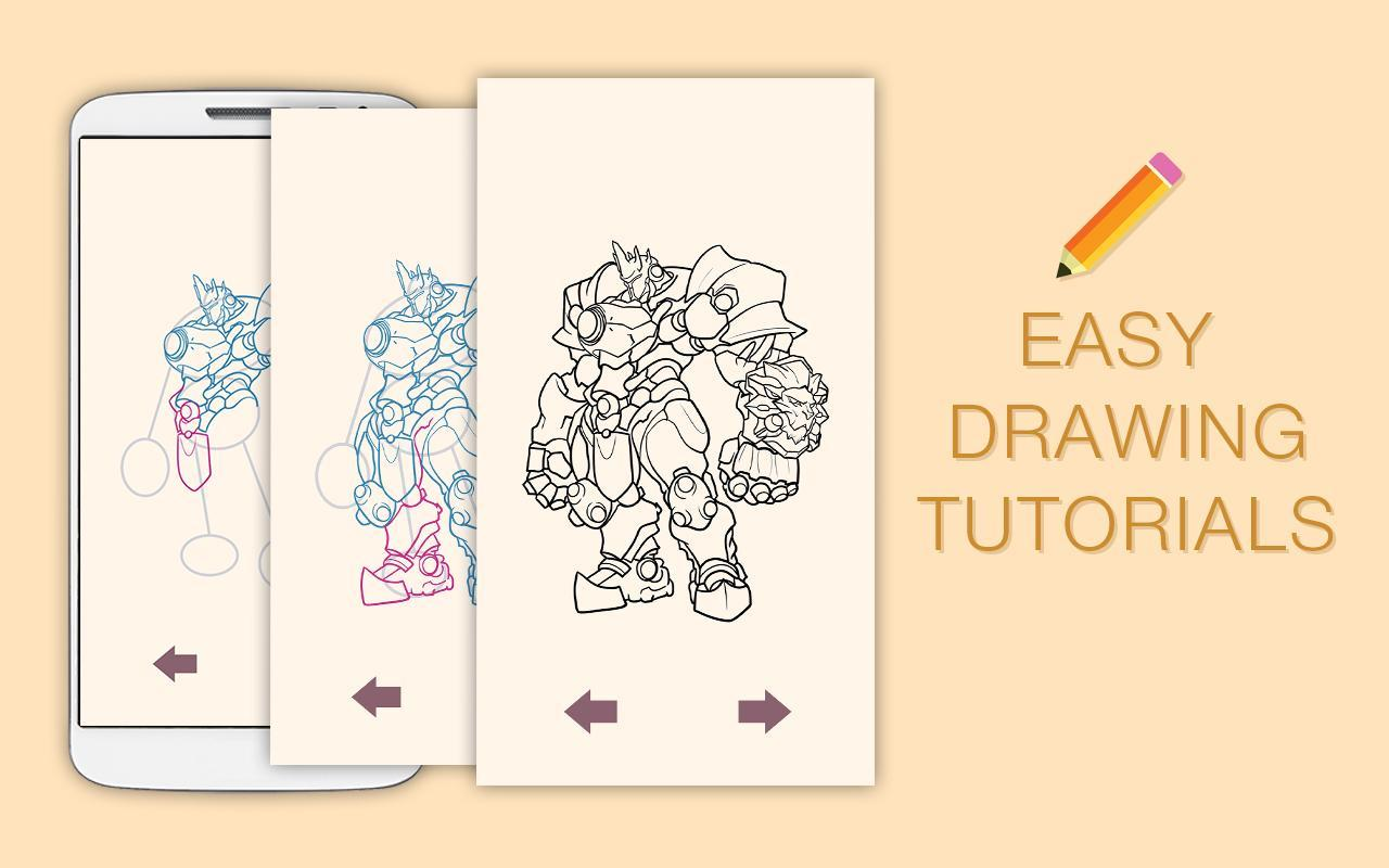 how to draw overwatch characters step by step