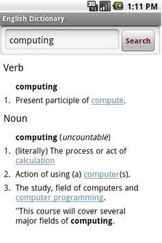 English-English Dictionary apk screenshot