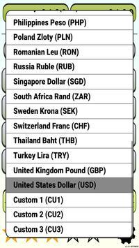 Calculator Currency2 rates exchange screenshot 4