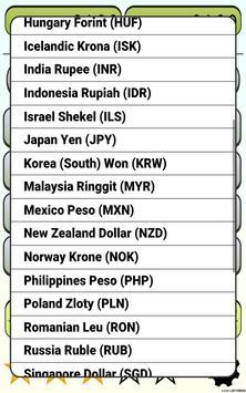 Calculator Currency2 rates exchange screenshot 11