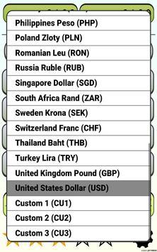 Calculator Currency2 rates exchange screenshot 12