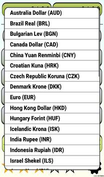 Calculator Currency2 rates exchange screenshot 18