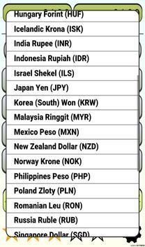 Calculator Currency2 rates exchange screenshot 19
