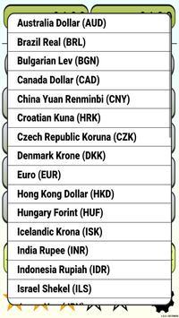 Calculator Currency2 rates exchange screenshot 2