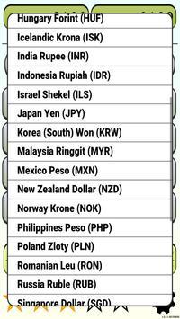 Calculator Currency2 rates exchange screenshot 3