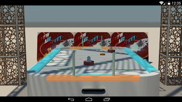 Glow Air Hockey 3D screenshot 2
