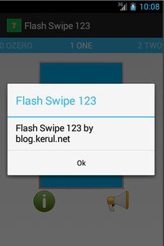 Flash-card Swipe 123 apk screenshot