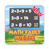 Math Fault Puzzle - Find the right Math statement icon