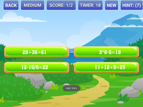 Math Fault Puzzle - Find the right Math statement apk screenshot