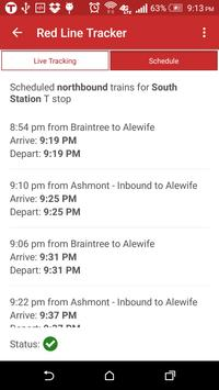 MBTA Red Line Tracker screenshot 5