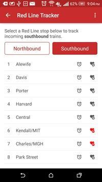 MBTA Red Line Tracker screenshot 2