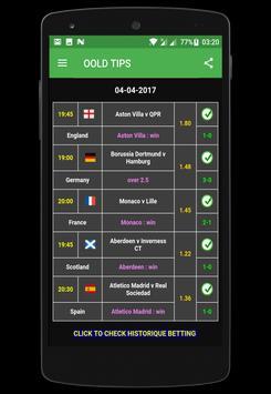 Betting TIPS VIP: DAILY TIPS ! apk screenshot