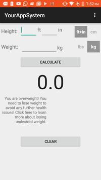 Body Mass Index (BMI) screenshot 1