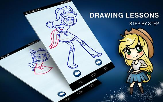 How to Draw Equestria Fashion Pony Girls poster