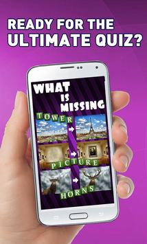 What is missing? poster
